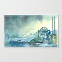Overlooking the Bosphorus Canvas Print