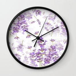 Lavender Bouquets On White Background #decor #society6 #buyart Wall Clock