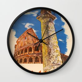 Roma Vintage Travel Poster Wall Clock