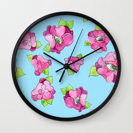 floral gaze Wall Clock