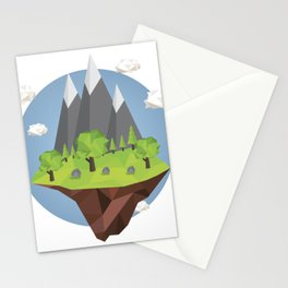 Mountains World Stationery Cards