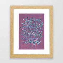 Love the Lord - Mark 12:30 (deep rose) Framed Art Print