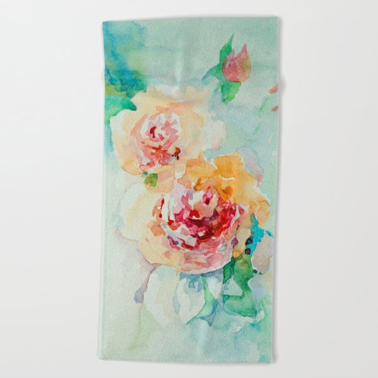Gentle roses Beach Towel