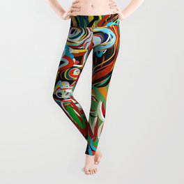 Black Heart Street Art Graffiti Urban Illustration Leggings