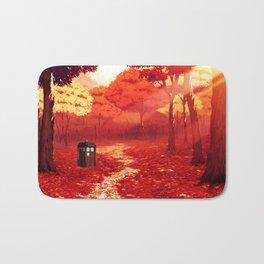 Tardis Autumn Tree Forest Bath Mat