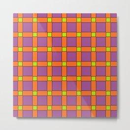 Modern Colorful Geometric Squares Metal Print