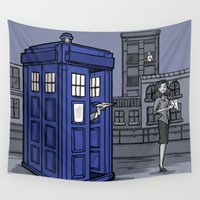 hallion Wall Tapestries featuring PaperWho by Karen Hallion Illustrations
