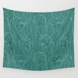 Green Ladies Wall Tapestry