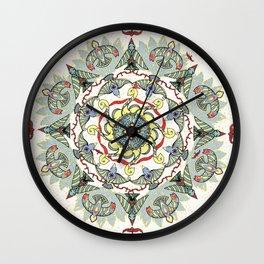 Circling Birds Mandala Wall Clock