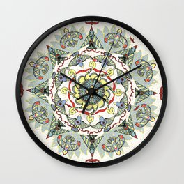 Circling Birds Mandala Wall Clock