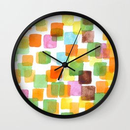 First Squares Pattern  Wall Clock