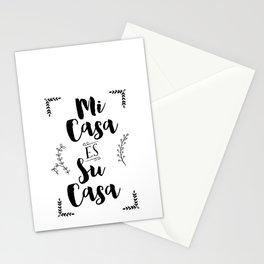 Mi Casa es Su Casa (Black) Stationery Cards