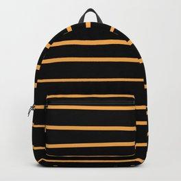 VA Bright Marigold - Spring Squash - Pure Joy - Just Ducky Hand Drawn Horizontal Lines on Black Backpack
