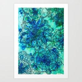 Blue is the Colour of Calm. Art Print