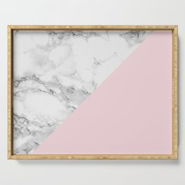 Marble + Pastel Pink Serving Tray