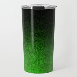 Green & Black Glitter Gradient Travel Mug