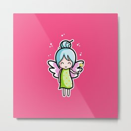 Kawaii Cute Fairy Metal Print