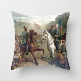 Last Meeting Of Lee And Jackson Throw Pillow