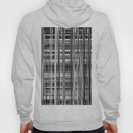 Black and White Abstract Stripe Design 707 Hoody