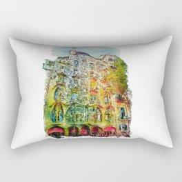 Casa Batllo Barcelona Rectangular Pillow