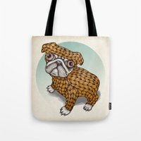 puppy Tote Bags featuring PUPPY by evafialka