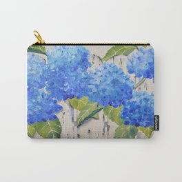 Picket Fence Hydrangeas Carry-All Pouch