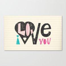 Love Note Canvas Print