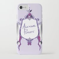 asexual iPhone & iPod Cases featuring Asexual Pirate by armouredescort