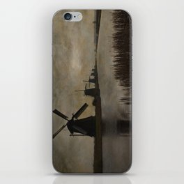 Windmills at Kinderdijk Holland iPhone Skin