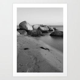 Stones in the sea 3 Art Print