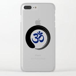 Namaste Zen Circle Meditation Prayer Ohm Aum Om Oum Peace Tai Chi Taiji Clear iPhone Case