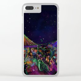 Magical Night Market Clear iPhone Case