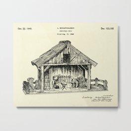 Christmas Crib-1940 Metal Print