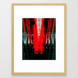 VICTORY-V Framed Art Print