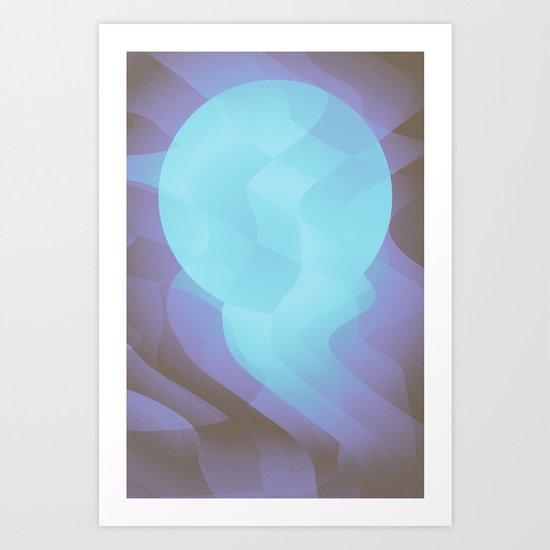 Cold Moon Art Print