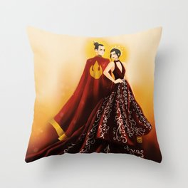Fire Nation's Royal Siblings Throw Pillow