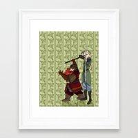 legolas Framed Art Prints featuring Legolas & Gimli by mothroot