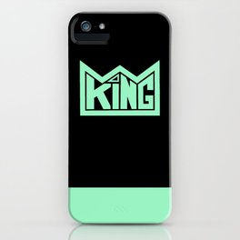 KING teal iPhone Case