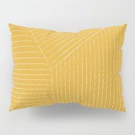Lines / Yellow Pillow Sham