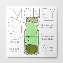 Money Oil - Magic Abundance Potion Metal Print