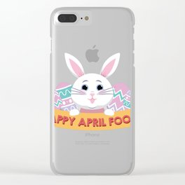 Happy Easter Fools Day April 1 2018 Clear iPhone Case