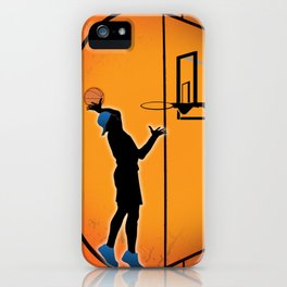 Basketball Player Silhouette iPhone Case