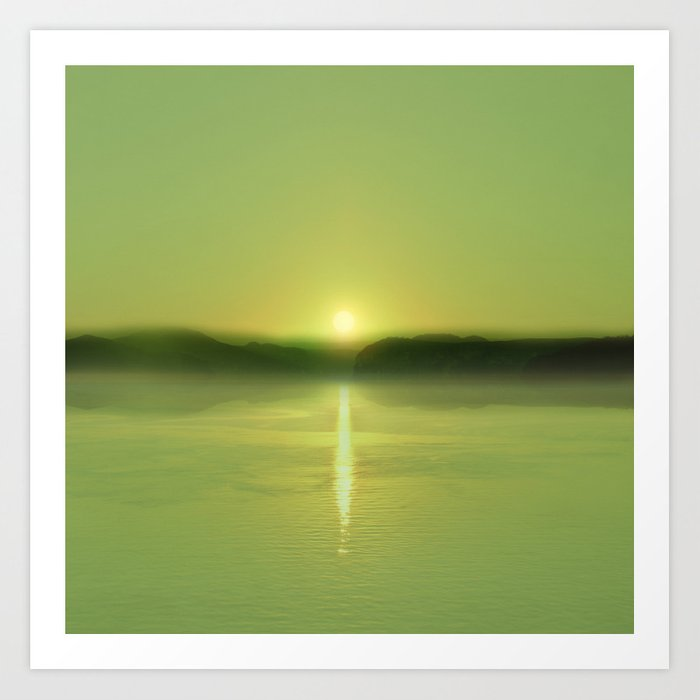 Sunday's Society6 | Greenery sunset art print