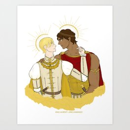 kind laurent and king damianos Art Print