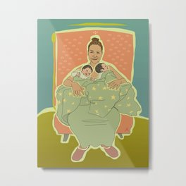 Mother with Twins Metal Print