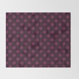 Festive Pink Snowflake Pattern Throw Blanket
