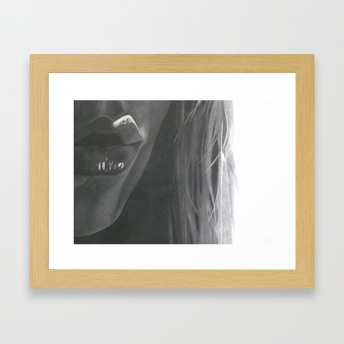 Say Framed Art Print