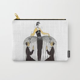 "Art Deco Design ""Improvised Cage"" by Erté Carry-All Pouch"