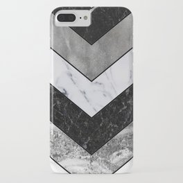 Shimmering mirage - grey marble chevron iPhone Case