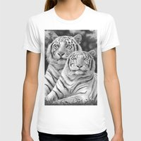 tigers T-shirts featuring Two Tigers by Thubakabra